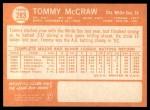 1964 Topps #283  Tom McCraw  Back Thumbnail