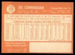 1964 Topps #340  Joe Cunningham  Back Thumbnail