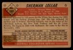 1953 Bowman #157  Sherm Lollar  Back Thumbnail