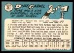 1965 Topps #261  Duke Carmel  Back Thumbnail