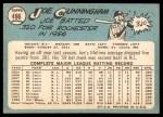1965 Topps #496  Joe Cunningham  Back Thumbnail