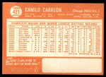 1964 Topps #421  Camilo Carreon  Back Thumbnail