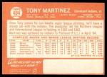 1964 Topps #404  Tony Martinez  Back Thumbnail