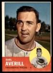 1963 Topps #139  Earl Averill Jr.  Front Thumbnail