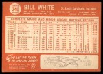 1964 Topps #240  Bill White  Back Thumbnail