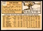 1963 Topps #471  Ken Retzer  Back Thumbnail