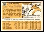 1963 Topps #383  Pete Richert  Back Thumbnail