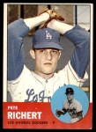 1963 Topps #383  Pete Richert  Front Thumbnail