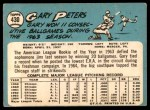 1965 Topps #430  Gary Peters  Back Thumbnail