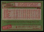 1985 Topps #262  Greg Booker  Back Thumbnail