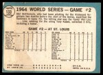 1965 Topps #133   -  Mel Stottlemyre 1964 World Series - Game #2 - Stottlemyre Wins Back Thumbnail