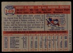 1957 Topps #169  Herb Plews  Back Thumbnail