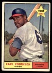 1961 Topps #343  Earl Robinson  Front Thumbnail
