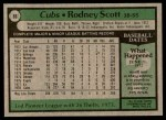 1979 Topps #86  Rodney Scott  Back Thumbnail