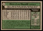 1979 Topps #355  Lee Mazzilli  Back Thumbnail