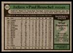 1979 Topps #511  Paul Reuschel  Back Thumbnail