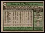 1979 Topps #464  Joe Nolan  Back Thumbnail