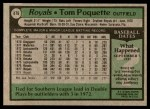1979 Topps #476  Tom Poquette  Back Thumbnail