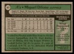 1979 Topps #487  Miguel Dilone  Back Thumbnail
