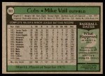 1979 Topps #663  Mike Vail  Back Thumbnail