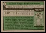 1979 Topps #81  Roger Erickson  Back Thumbnail