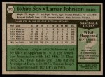 1979 Topps #372  Lamar Johnson  Back Thumbnail
