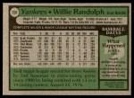 1979 Topps #250  Willie Randolph  Back Thumbnail