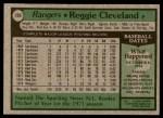 1979 Topps #209  Reggie Cleveland  Back Thumbnail