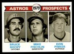 1979 Topps #718   -  Bruce Bochy / Mike Fischlin / Don Pisker Astros Prospects   Front Thumbnail