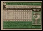 1979 Topps #70  John Candelaria  Back Thumbnail