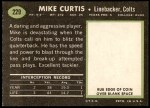 1969 Topps #229  Mike Curtis  Back Thumbnail