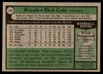 1979 Topps #298  Rich Gale  Back Thumbnail