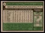 1979 Topps #350  Garry Templeton  Back Thumbnail