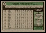 1979 Topps #580  Ron Fairly  Back Thumbnail