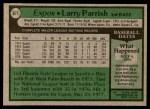 1979 Topps #677  Larry Parrish  Back Thumbnail