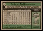 1979 Topps #61  Bo Diaz  Back Thumbnail