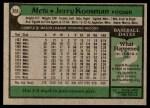 1979 Topps #655  Jerry Koosman  Back Thumbnail