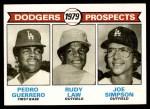 1979 Topps #719   -  Pedro Guerrero /Rudy Law / Joe Simpson Dodgers Prospects   Front Thumbnail