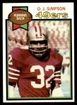 1979 Topps #170  O.J. Simpson  Front Thumbnail