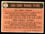 1966 Topps #392   -  Randy Hundley / Bill Hands Cubs Rookies Back Thumbnail