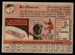 1958 Topps #27  Hershell Freeman  Back Thumbnail