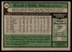 1979 Topps #409  Willie Wilson  Back Thumbnail