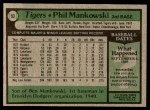 1979 Topps #93  Phil Mankowski  Back Thumbnail