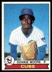 1979 Topps #17  Donnie Moore  Front Thumbnail