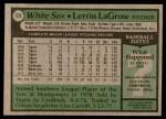 1979 Topps #527  Lerrin LaGrow  Back Thumbnail