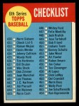 1963 Topps #431 WHT  Checklist 6 Front Thumbnail