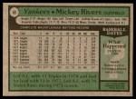 1979 Topps #60  Mickey Rivers  Back Thumbnail