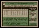 1979 Topps #311  Gary Lavelle  Back Thumbnail