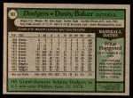 1979 Topps #562  Dusty Baker  Back Thumbnail