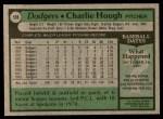 1979 Topps #508  Charlie Hough  Back Thumbnail